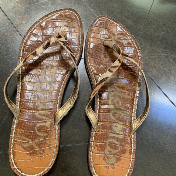 Sam Edelman Shoes - Sam Edelman flip flop. Leopard print calf